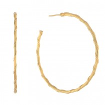Heritage Hoop Earrings in 18K yellow gold 2""