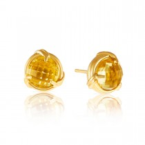 Fantasies Citrine Stud Earrings in 18K yellow gold