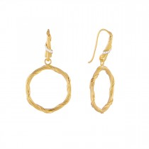 Heritage Diamond Circle Earrings in 18K yellow gold