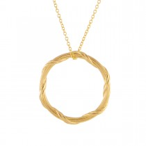 Heritage Circle Necklace in 18K yellow gold 1""