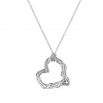 Signature Classic Medium Heart Necklace in sterling silver