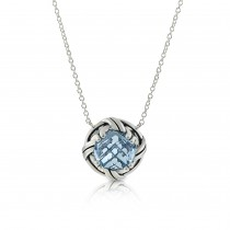 Fantasies Blue Topaz Necklace in sterling silver