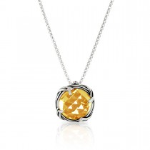 Fantasies Citrine Necklace in sterling silver 10mm