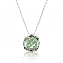 Fantasies Prasiolite Necklace in sterling silver 10mm