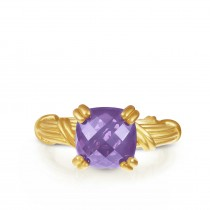 Fantasies Amethyst Cocktail Ring in 18K yellow gold