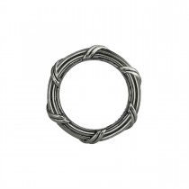 Signature Classic Band Ring in ruthenium silver 4mm