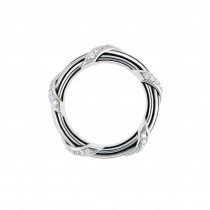Signature Diamond Band Ring in sterling silver 4 mm