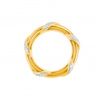 Heritage Diamond Band Ring in 18K yellow gold 4 mm