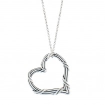 Signature Classic Heart Necklace in sterling silver