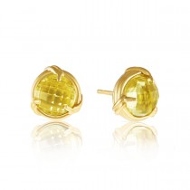 Fantasies Lemon Citrine Stud Earrings in 18K yellow gold