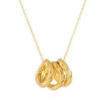 Heritage Trio Circle Necklace in 18K yellow gold mini