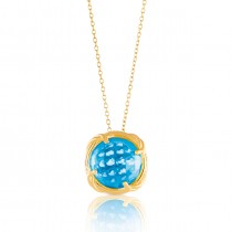 Fantasies Blue Topaz Necklace in 18K yellow gold