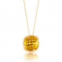 Fantasies Citrine Necklace in 18K yellow gold