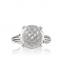 Fantasies Rock Crystal Cocktail Ring in sterling silver