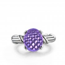 Fantasies Lavender Amethyst Cocktail Ring in sterling silver