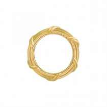 Heritage Band Ring in 18K yellow gold 4 mm sizes 11 - 14