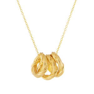 aab40d6ebf27 Heritage Trio Circle Necklace in 18K yellow gold mini