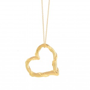 Heritage Heart Necklace in 18K yellow gold