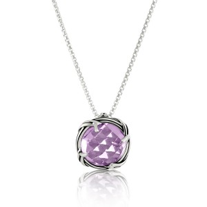 Fantasies Lavender Amethyst Necklace in sterling silver 10mm