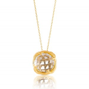 Fantasies Rock Crystal Necklace in 18K yellow gold