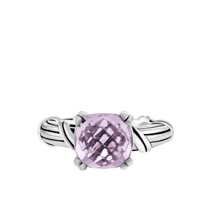 Fantasies Lavender Amethyst Cocktail Ring in sterling silver 10mm