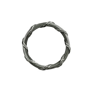 Signature Romance Band Ring in ruthenium sterling silver 2 mm