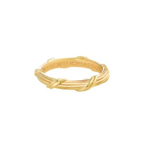 Heritage Eternity Band in 18K yellow gold 3 mm Sizes 10 - 13