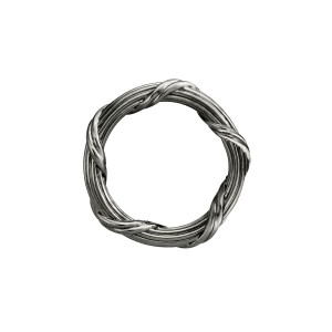Signature Classic Band Ring in Ruthenium Sterling Silver 3mm